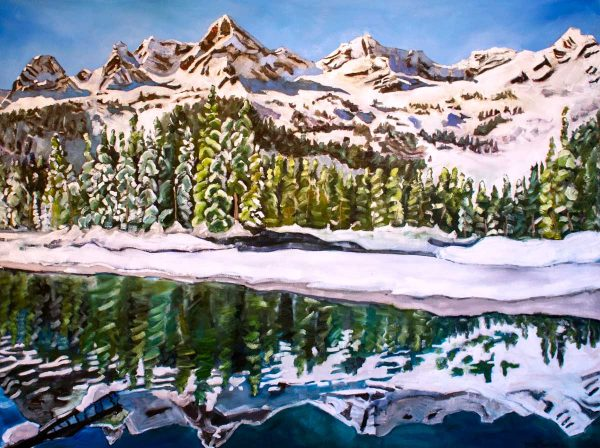 Tara-higgins-morning-reflection-oil-painting-hsquared-gallery-fernie