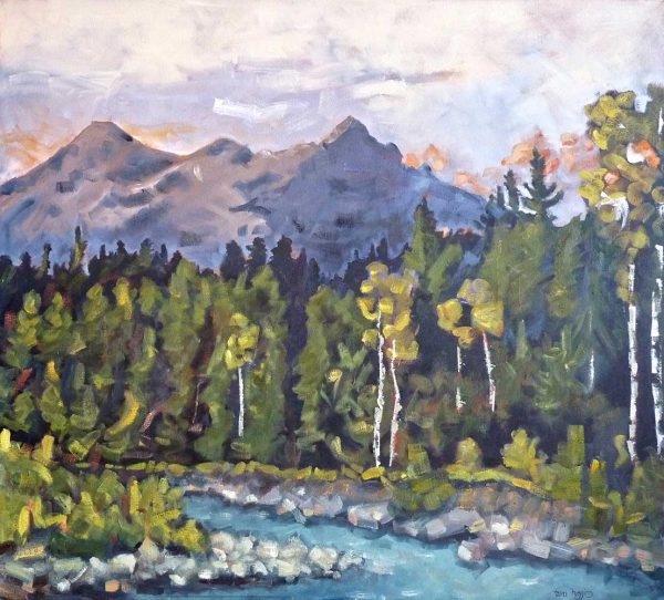 Tara-higgins-shooting-past-oil-painting-hsquared-gallery-fernie
