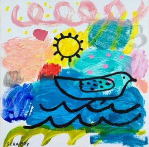 Lucy-schappy-bird-bath-hsquared-gallery-fernie