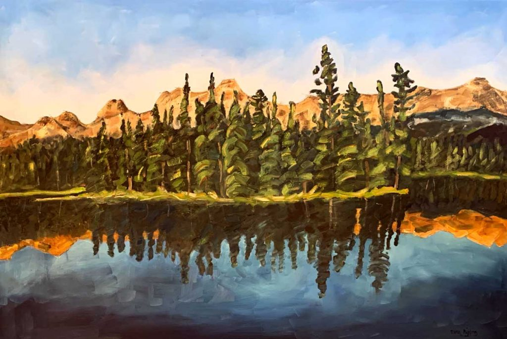 Tara-higgins-island-dreams-oil-painting-hsquared-gallery-fernie